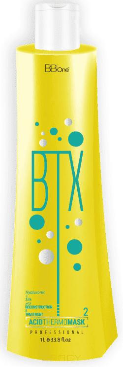 BB One, BTX Ботокс для волос Acid Thermo Mask pH=2,5 (аминокислотный) Шаг 2, 500 мл bb one набор ботокс для волос btx classic white thermo mask без пигмента шаг 1 шаг 2 2х1000 мл