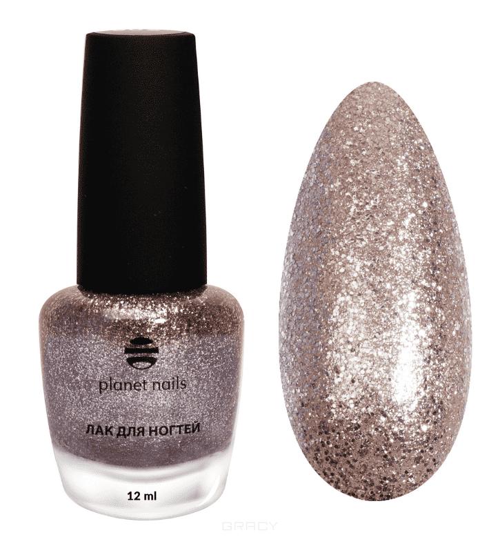 Planet Nails, Лак для ногтей с глиттером, 12 мл (7 оттенков) Лак для ногтей с глиттером, 12 мл (7 оттенков) sophin лак для ногтей prisma тон 0205 12 мл
