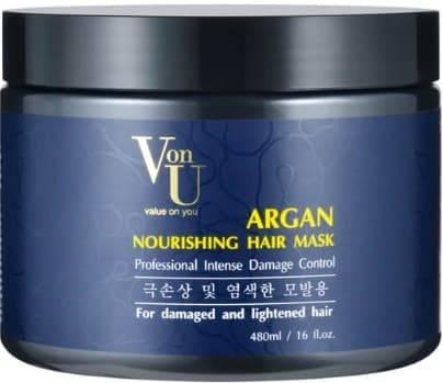 Купить Von U, Маска для волос с аргановым маслом питательная Argan Nourishing Hair Mask, 480 мл