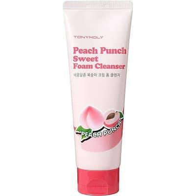 Tony Moly, Очищающее средство для лица с экстрактом персика Peach Punch Sweet Foam Cleanser, 150 млМуссы и пенки<br><br>