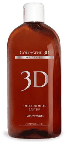 Collagene 3D, Масло массажное для тела Тонизирующее, 300 мл
