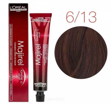 Купить L'Oreal Professionnel, Крем-краска для волос Мажирель Majirel, 50 мл (93 оттенков) 6.13 темный блондин пепельно-медный