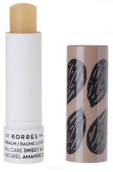 Korres, Бальзам-стик для губ натуральная защита Сладкий миндаль, 5 мл korres бальзам стик для губ натуральная защита сладкий миндаль 5 мл