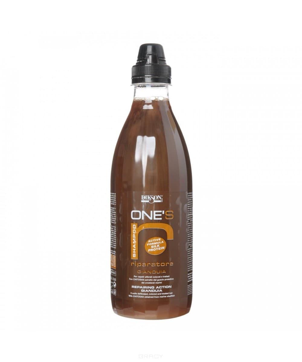 Питательный шампунь с хитозаном для ломких, сухих и очень чувствительных волос One s Shampoo Riparatore, 1 лУход за волосами всегда начинается с шампуня. Вот почему так важно чтобы шампунь идеально подходил для типа волос и кожи головы. К выбору косметики для волос, следует подходить ответственно. Для безжизненных, ломких и тусклых волос склонных к выпадению, очень хорошо подойдет питательный шампунь с хитозаном. Шампунь идеален для применения после окрашивания, химической обработки или других агрессивных воздействий. Универсальный состав средства помогает создать на поверхности волоса специальную защитную пленку, благодаря чему, уменьшается чувствительность волос к внешним раздражителям, предотвращается потеря влаги, и как следствие уменьшается ломкость волос. Основным активным компонентом шампуня является хитозан - натуральный строительный материал, полученный из раковин моллюсков, который предназначен для полноценного и глубокого протезирования волос. Благодаря этому компоненту средство обладает прекрасным восстанавливающим эффектом, препятствует образованию секущихся кончиков волос, а ...<br>