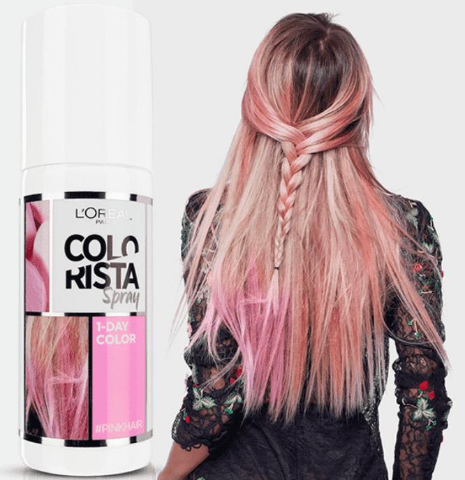 Купить L'Oreal, Краска спрей в баллончиках на 1 день Colorista Spray 1-Day, 75 мл (7 оттенков) 4 розовый