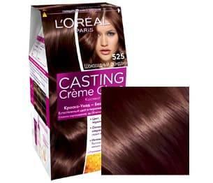 LOreal, Краска дл волос Casting Creme Gloss (37 оттенков), 254 мл 525 Шоколадный фонданОкрашивание волос Casting, Preference, Prodigy, Excellence<br><br>
