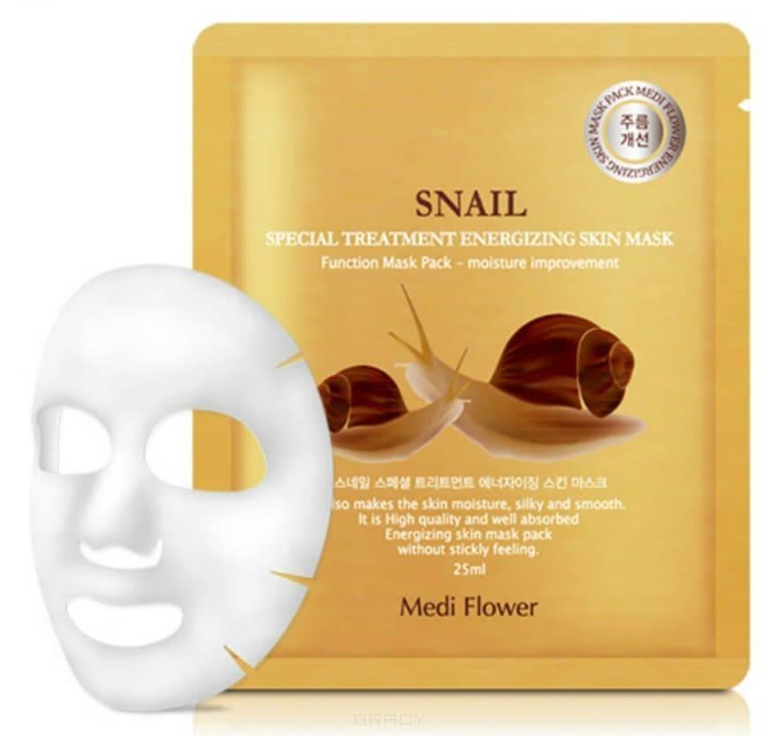 Купить Medi Flower, Интенсивно омолаживающая маска с экстрактом муцина улитки Special Treatment Energizing Mask Pack Snail, 25 мл