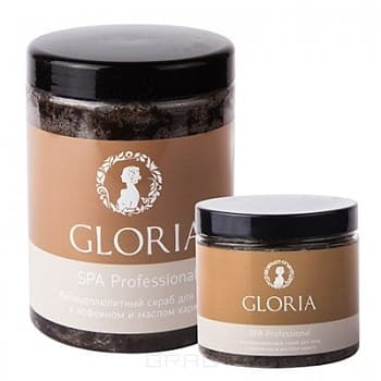 Gloria, Скраб антицеллюлитный для тела с кофеином, 200 млСПА скрабы и обертывание<br><br>