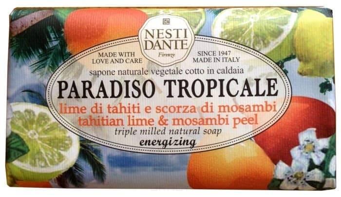 Мыло Лайм и мангустин Lime di Tahiti &amp;amp; Scorza di Mosambi Peel, 250 гр.Paradiso Tropicale мыло tahitian lime &amp;amp;amp; mosambi peel -&amp;amp;quot;Лайм и мангустин&amp;amp;quot; - это несравненный аромат, позволяющий вам погрузиться в мечты о белоснежном тропическом пляже, голубой лагуне, пальмах и тропических фруктов.<br>