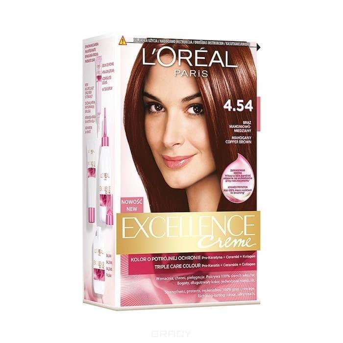 L'Oreal, Краска для волос Excellence Creme (32 оттенка), 270 мл 4.54 Богатый медный фото