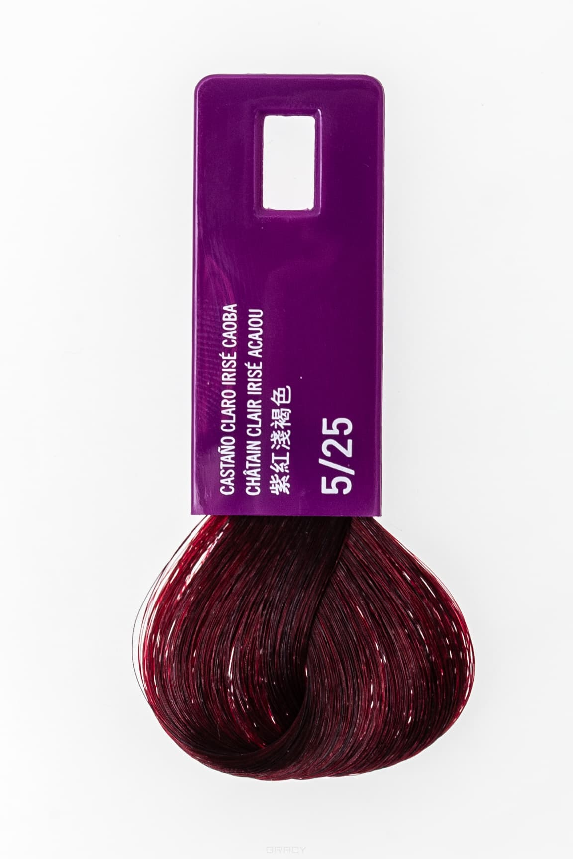 Lakme, Крем-краска для волос тонирующая Gloss, 60 мл (54 оттенка) 5/25 светлый шатен фиолетово-махагоновый