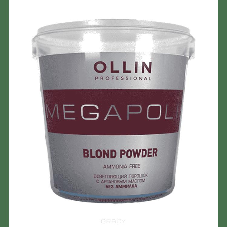 OLLIN Professional, Осветляющий супра порошок с аргановым маслом без аммиака, 500 г, 30 гр ollin professional шпильки 65 мм 500 гр 2 цвета 500 гр черный 392941