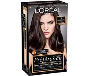 L'Oreal, Краска для волос Preference (27 оттенков), 270 мл 3 Бразилия темно-каштановый l oreal краска для волос preference 27 оттенков 270 мл 7 1 исландия пепельно русый