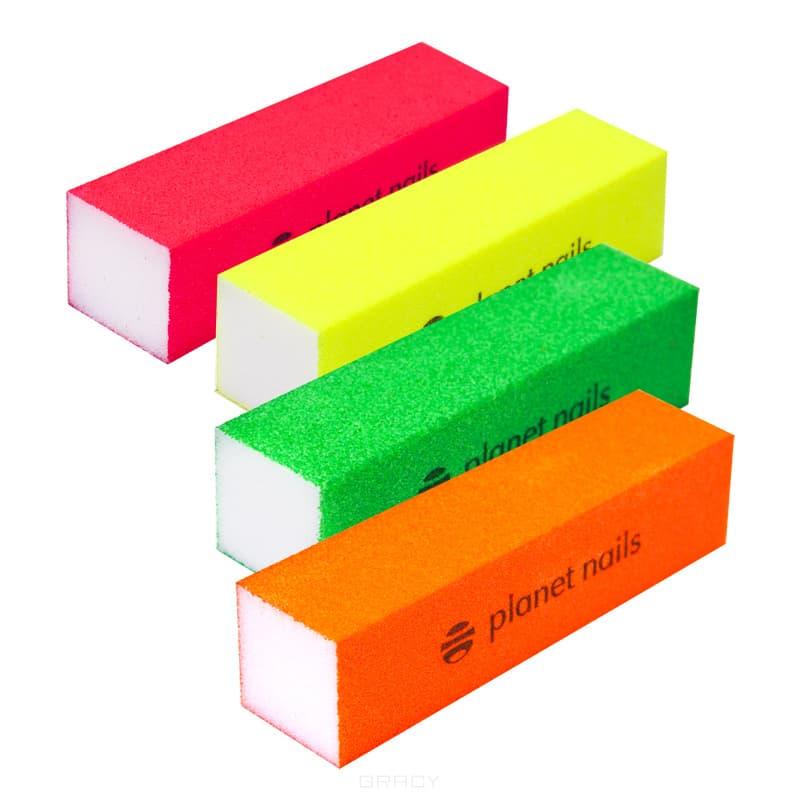 Planet Nails, Баф цветной, 1 шт, Неоново-розовыйПолировки, шлифовщики, бафы<br><br>