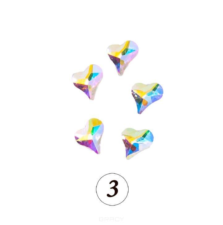 Купить Planet Nails, Цветные фигурные стразы в ассортименте (76 видов), 5 шт/уп Планет Нейлс №3