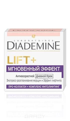 Дневной крем для лица Lift + Мгновенный эффект Антивозрастной, 50 млLIFT+ МГНОВЕННЫЙ ЭФФЕКТ Дневной крем&#13;<br>сочетает 2 мощных действия:&#13;<br>&#13;<br>? Формула с Про-Коллагеном воздействует на наиболее важные типы коллагена в коже, укрепляя его структурную сеть. В результате достигается эффект лифтинга и повышается упругость кожи.&#13;<br>&#13;<br>? Комплекс Фитолифтинг создает невидимую вуаль на поверхности кожи, которая обеспечивает мгновенный разглаживающий эффект.&#13;<br>&#13;<br>&#13;<br>  &#13;<br>&#13;<br>&#13;<br>Действие&#13;<br>&#13;<br>Экспресс-разглаживание морщин и эффект лифтинга&#13;<br>&#13;<br>Видимый результат&#13;<br>&#13;<br>Морщины разглажены&#13;<br>&#13;<br>Кожа более шелковистая, мягкая и эластичная&#13;<br>&#13;<br>&#13;<br>  &#13;<br>&#13;<br>&#13;<br>Применение&#13;<br>&#13;<br>Наносите крем каждое утро на предварительно очищенную кожу лица и шеи легкими массажными движениями&#13;<br>&#13;<br>Для комплексного ухода за кожей лица рекомендуется использовать совместно с Гель-кремом для контура глаз LIFT+ МГНОВЕННЫЙ ЭФФЕКТ.<br>