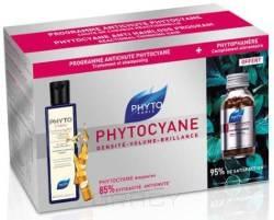 Phytosolba, Набор: Фитоциан ампулы + Фитофанер + Фитоциан шампунь Phytocyane, 12 шт + 120 капсул + 250 мл