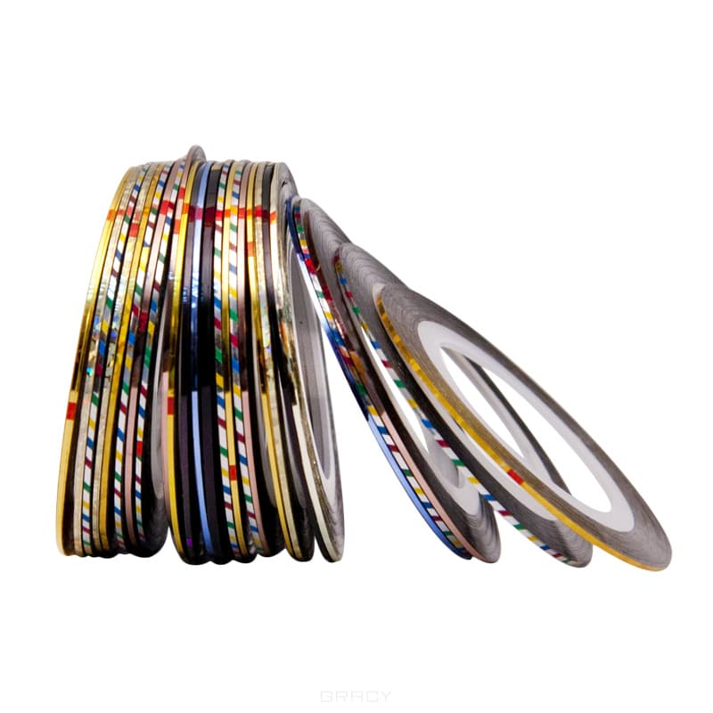 Planet Nails, Скотч для дизайна ногтей (в ассортименте)Дизайн для ногтей<br><br>