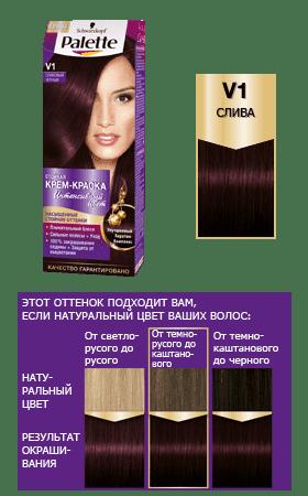 Schwarzkopf Professional, Краска для волос Palette, 50 мл (29 оттенков) V 1     Сливовый черныйОкрашивание<br><br>