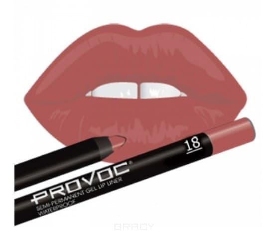 Купить Provoc, Гелевая подводка в карандаше для губ Gel Lip Liner (12 тонов) 018 Irresistible (цв.натурально-розовый)