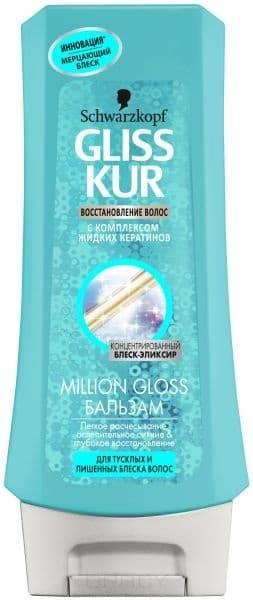 Бальзам-ополаскиватель для тусклых и лишенных блеска волос Million Gloss, 200 мл бальзам ополаскиватель для волос малавит энергия океана 200 мл