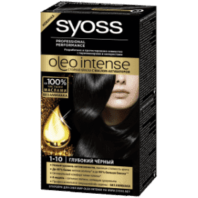 Syoss, Краска для волос Oleo Intense, 115 мл (26 оттенков) 1-10 Глубокий чёрныйОкрашивание<br><br>