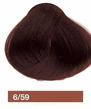 Lakme, Перманентная крем-краска Collage, 60 мл (99 оттенков) /59 Темный блондин махагоново-красный