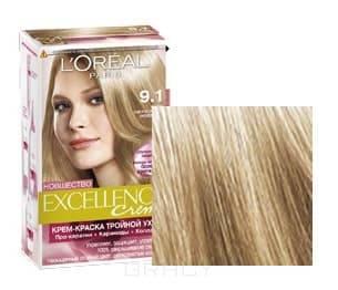 LOreal, Краска для волос Excellence Creme (30 оттенков), 270 мл 9,1 Очень светлый русый пепельныйGreenism - эко-серия для ухода<br><br>