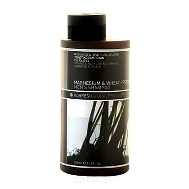 Тонизирующий и укрепляющий шампунь с магнием и протеинами, 250 мл dikson укрепляющий шампунь с гидрализованными протеинами риса для нормальных волос 1000 мл