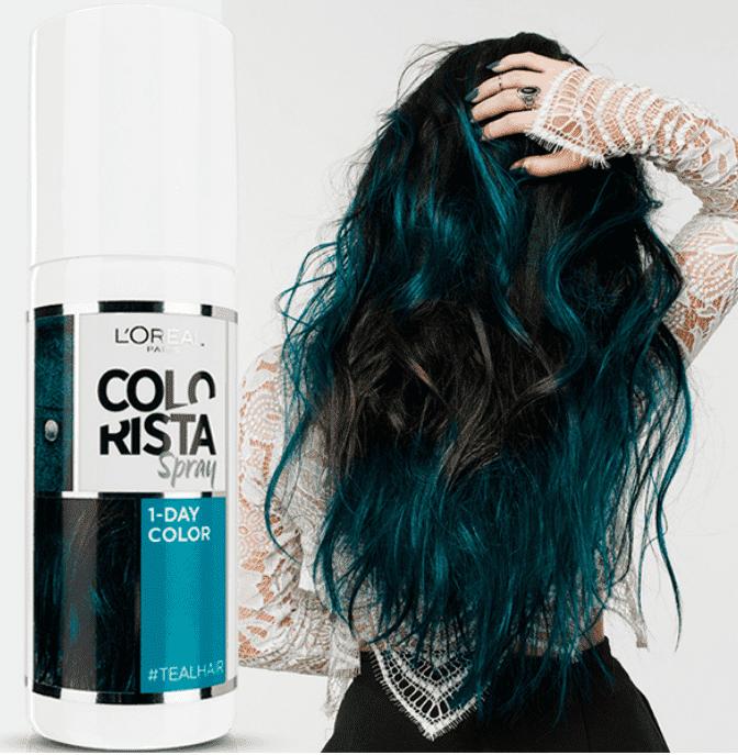 Купить L'Oreal, Краска спрей в баллончиках на 1 день Colorista Spray 1-Day, 75 мл (7 оттенков) 5 бирюзовый