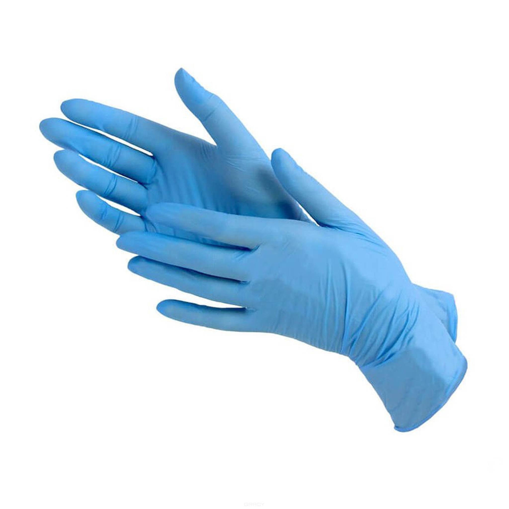 Igrobeauty, Перчатки нитриловые нестерильные одноразовые без талька, 100 шт./уп, Размер M, шт, голубые.