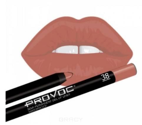 Provoc, Гелевая подводка в карандаше для губ Gel Lip Liner (12 тонов) 038 Barely There (цв. карамельный) карандаш для губ provoc semi permanent gel lip liner 16 цвет 16 satin sheets variant hex name ff86c8