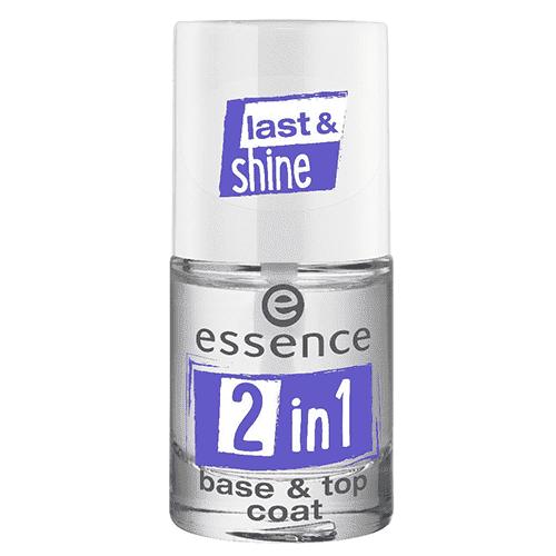 Купить Essence, Верхнее и базовое покрытие для ногтей 2 в 1 Base and Top Coat, 8 мл