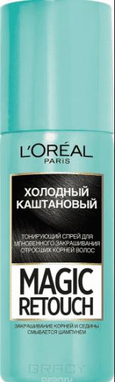 L'Oreal, Краска спрей в баллончиках Magic Retouch, 75 мл (7 оттенков) 8 Холодный каштан краска для авто в баллончиках