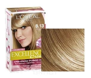 LOreal, Краска для волос Excellence Creme (32 оттенка), 270 мл 8.13 Светло-русый бежевыйОкрашивание<br><br>