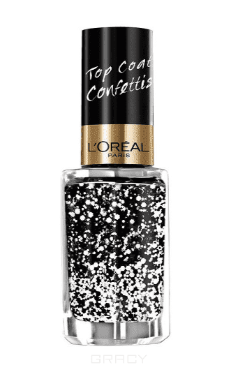 LOreal, Верхнее покрытие для ногтей Top Coat, 5 мл (14 оттенков) 916 КонфеттиЦветные лаки для ногтей<br><br>