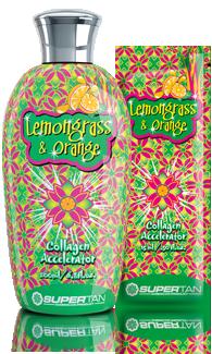 Supertan, Сенсационный ускоритель загара в солярии с коллагеном и увлажняющим алоэ Lemongrass & Orange, 200 мл supertan сенсационный ускоритель загара в солярии с коллагеном и увлажняющим алоэ lemongrass