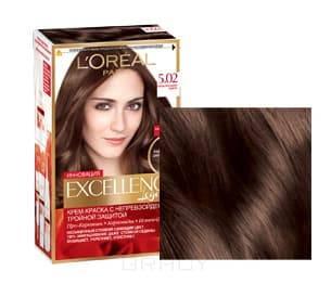 LOreal, Краска для волос Excellence Creme (32 оттенка), 270 мл 5.02 Обольстительный каштанОкрашивание волос Casting, Preference, Prodigy, Excellence<br><br>
