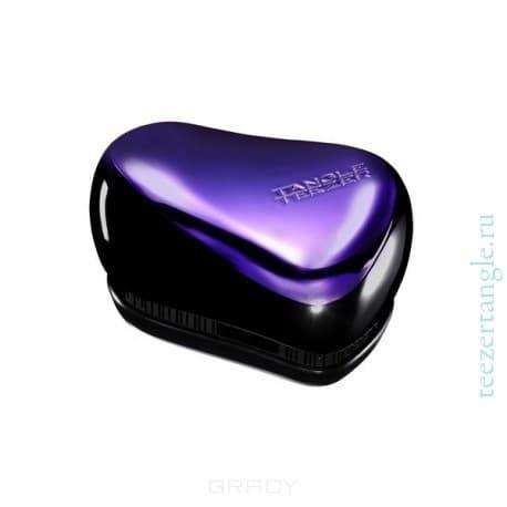 Расческа для волос Compact Styler Purple DazzleTangle Teezer Compact Styler - профессиональная расческа, отлично подходит для всех типов волос. Оригинальная и уникальная форма зубчиков обеспечивает двойное действие позволяет расчесать сухие и влажные волосы легко и быстро, без рывков и усилий. &#13;<br>Расческа мягко скользить по волосам, распутывая их, сводя к минимуму разрушение и выпадение волос. Идеальна при нанесении кондиционера на ваши волосы, обеспечивает легкое и равномерное распределение средства на волосы, фиксирует ваши пряди при дальнейшей сушке феном.&#13;<br> &#13;<br>Расческа Tangle Teezer идеальна для расслабляющего массажа головы. Расческа стала более компактной и удобной для переноски, на зубчики одевается защитный колпачок, предохраняющий их от повреждений. Благодаря эргономичной форме расческа удобно ложиться в ладонь, позволяя более творчески подойти к процессу укладки. &#13;<br>   &#13;<br>    &#13;<br>   &#13;<br> &#13;<br>  Особенности расчески Tangle Teezer Compact Styler:&#13;<br> &#13;<br>   &#13;<br>    &#13;<br>   &#13;<br> &#13;<br>  Подходит для всех типов волос&#13;<br> &#13;<br>  Идеально подходит при р...<br>