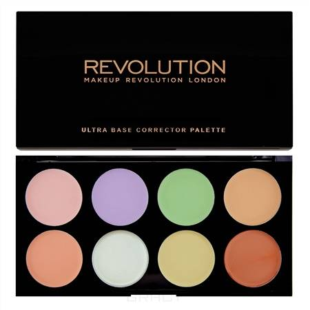 MakeUp Revolution, Палетка корректоров для лица Ultra Base Corrector Palette, 13 гр фото