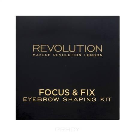 цена на MakeUp Revolution, Набор для бровей Focus & Fix Brow Kit, Medium Dark