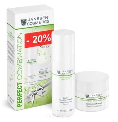 Janssen, Юбилейный набор Идеальная пара для комбинированной кожи Gentle Cleansing Powder, 100 гр + 50 мл janssen gentle cleansing powder мягкая очищающая пудра 100г