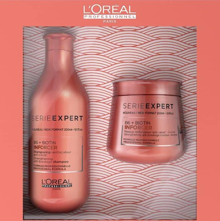 L'Oreal Professionnel, Набор против ломкости волос (шампунь + маска) Inforcer, 300/250 мл