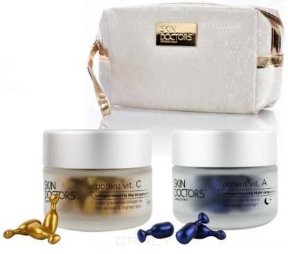 Купить Skin Doctors, Набор витаминных сывороток Potent Vit. C и Potent Vit.А + косметичка