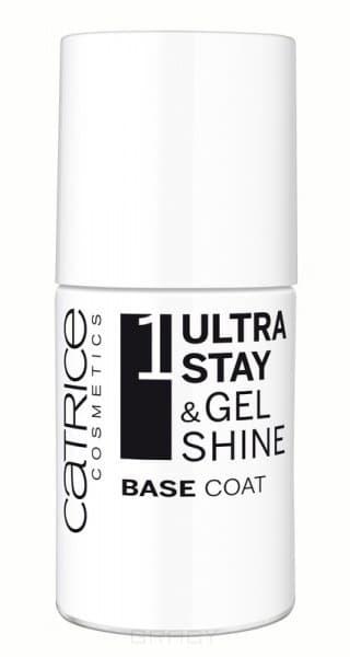 Покрытие базовое для ногтей Ultra Stay Gel Shine Base Coat, 10 млБазовое покрытие Ultra Stay &amp;amp;amp; Gel Shine Base Coat. Идеальное покрытие!&#13;<br> &#13;<br> Достичь профессиональных результатов в маникюре без использования светодиодной лампы и без посещения салона теперь совсем просто вместе с новой инновационной системой лаков для ногтей Ultra Stay &amp;amp;amp; Gel Shine 3 Step Nail System от Catrice! В нее входят базовое покрытие Ultra Stay &amp;amp;amp; Gel Shine Base Coat, цветные лаки из линейки Ultimate Nail Lacquer, а также топовое покрытие Ultra Stay &amp;amp;amp; Gel Shine Top Coat, усиливающее цвет. Эффект гелевого маникюра и стойкость до восьми дней гарантированы! Все средства легко удаляются с помощью жидкости для снятия лака.&#13;<br> &#13;<br> Первым шагом к идеальному маникюру является нанесение на ногти базового покрытия Ultra Stay &amp;amp;amp; Gel Shine Base Coat. Его инновационная формула позволяет защитить и укрепить ваши ногти, а также выровнять их поверхность, обеспечивая последующее равномерное нанесение цветного лака.&#13;<br> &#13;<br> Особенности:&#13;<br> - Усиливает стойкость лака для ногтей.&#13;<br> - З...<br>