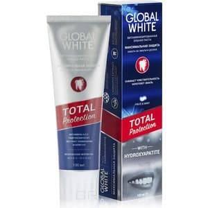 Global White, Зубная паста Максимальная защита Total Protection, 100 мл зубная паста отбеливающая global white 100 мл