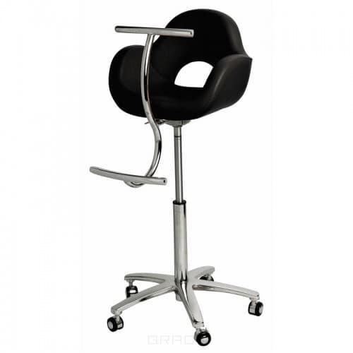 Детское парикмахерское кресло Pacha пневматика, пятилучье хром (цвет черный)