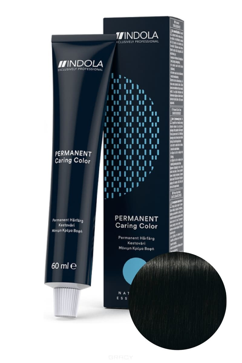 Indola, Индола краска для волос профессиональная Profession, 60 мл (палитра 141 цвет) 1.0 черный