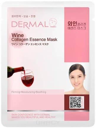 Купить Dermal, Тканевая маска экстракт вина и коллаген Wine Collagen Essence Mask, 23 мл