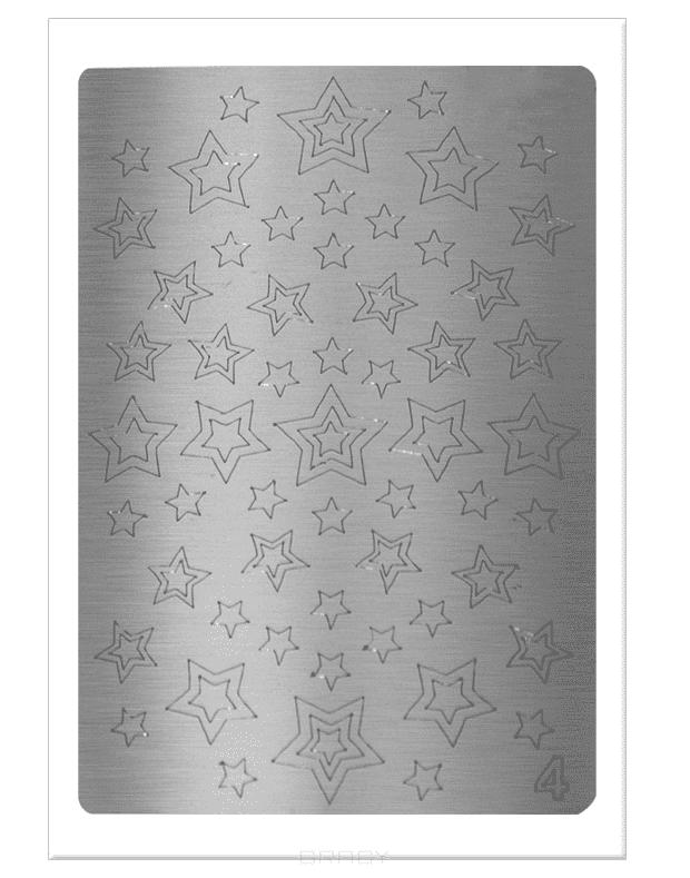 Купить Planet Nails, Металлизированные наклейки-трафареты (38 рисунков) Планет Нейлс Металлизированные наклейки-трафареты